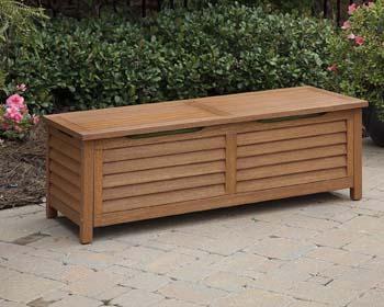 8: Home Styles 5661-25 Montego Bay Deck Box, Eucalyptus Finish