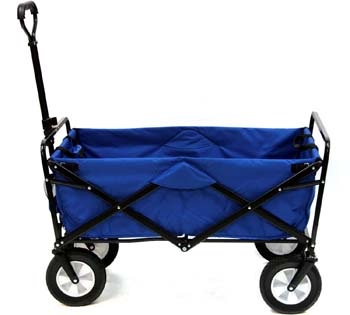 1: Mac Sports Collapsible Folding Outdoor Utility Wagon, Blue