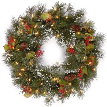 1: National Tree 24 Inch Wintry Pine Wreath