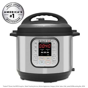 3: Instant Pot DUO60 6 Qt 7-in-1 Multi-Use Programmable Pressure Cooker