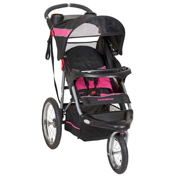 1. Baby Trend Expedition Jogger Stroller, Bubble Gum