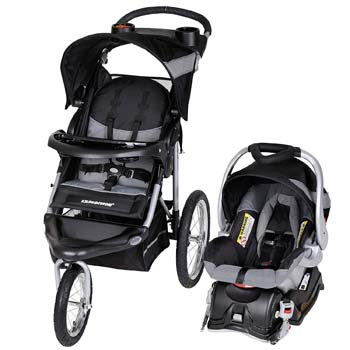3. Baby Trend Expedition Jogger Travel System, Millennium White
