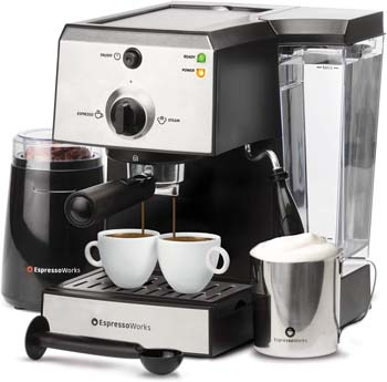 2: EspressoWorks 7 Pc All-In-One Espresso Machine & Cappuccino Maker