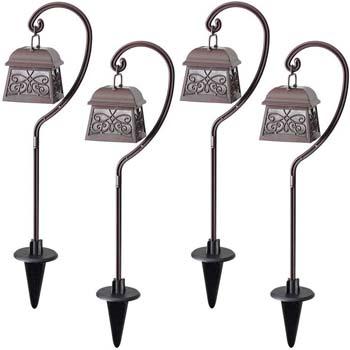 4: Maggift 22 Inch Hanging Solar Lights Multipurpose Shepherd Hook Lights