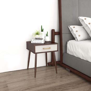 8: Lifewit Nightstand with 1 Fabric Drawer