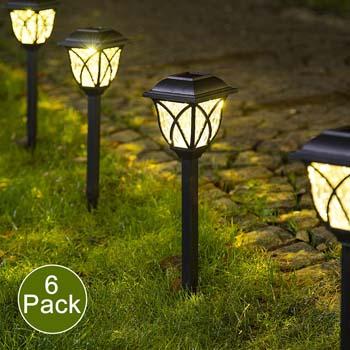 3: Solpex Solar Pathway Lights Outdoor, LED Solar Garden Lights