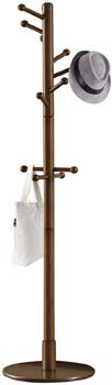 3: Vlush Sturdy Wooden Coat Rack Stand, Entryway Hall Tree Coat Tree