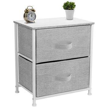 10. Sorbus Nightstand with 2 Drawers