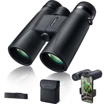 5: rivmount Binoculars for Adults 10x42 BAK-4 Roof Prism FMC Lens