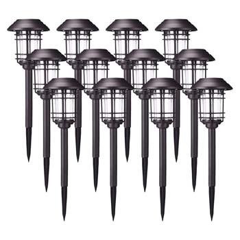 5: AZIRIER Solar Lights Outdoor Waterproof Security Lights Easy Install Garden Lights