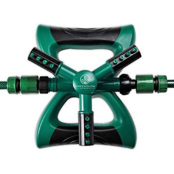 8. GreenGlow Garden Weighted Rotating Sprinkler