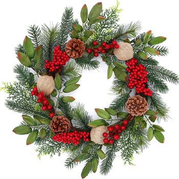 2: Tiny Land 18 Inch Christmas Wreath for Window & Advent