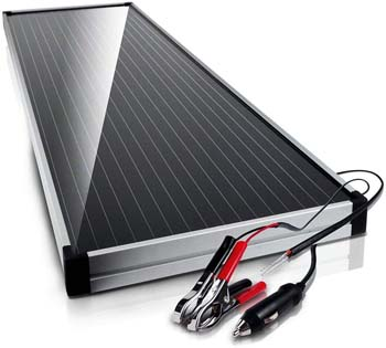 10. Schumacher SP-1500 15W 12V Solar Battery Charger and Maintainer with Solar Charge Controller