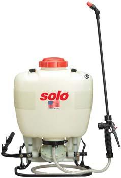7. Solo 475-B Diaphragm Pump Backpack Sprayer, 4-Gallon, Bleach Resistant Pump Assembly