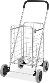 4. Whitmor Utility Durable Folding Design for Easy Storage Shopping Cart