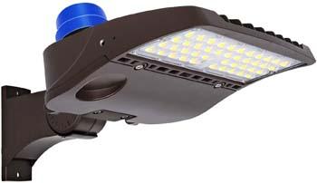 8. Hykolity 150W LED Parking Lot Light with Photocell