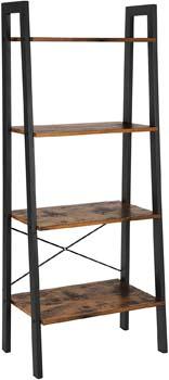 2. VASAGLE Industrial Ladder Shelf