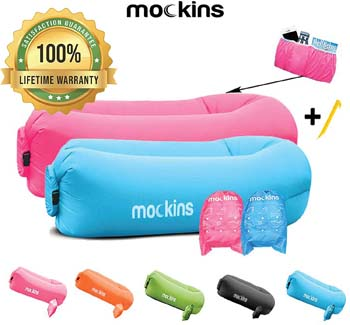8. Mockins 2 Pack Inflatable Lounger Air Sofa