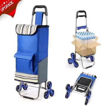 8. ROYI 2019 Upgraded Folding Shopping Cart Stair Climbing Cart