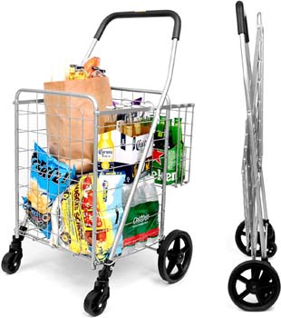 9. SUPENICE SN7504 Durable Utility Folding Shopping Cart