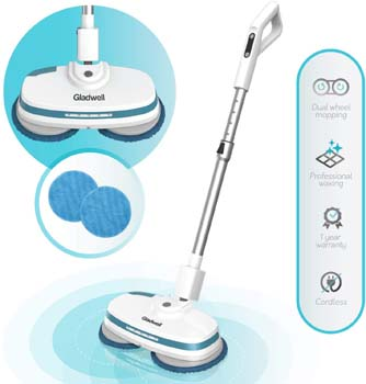 4. Gladwell Cordless Electric Mop - 3 in 1 Spinner, Scrubber