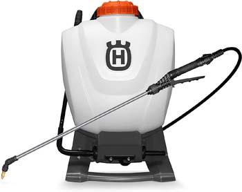 5. Husqvarna Sprayers, 4 Gallon Backpack, Orange/Gray