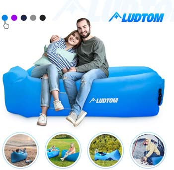 10. ludtom Inflatable Lounger Air Sofa Hammock