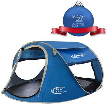 8. ZOMAKE Pop Up Tent 3 4 Person, Beach Tent Sun Shelter for Baby