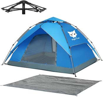 10. Night Cat Waterproof Camping Tent for 1 2 3 4 Person