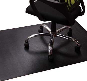 5. Office Chair Mat for Hardwood and Tile Floor, Black, Anti-Slip, Non-Curve, Under the Desk Mat