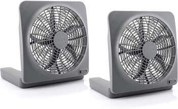9. O2COOL Treva 10 Inch Portable Desktop Air Circulation Battery Powered Fan
