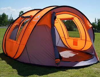 """7. Oileus Pop up Tents Camping 4 to 6 Person Tent Sky-Window (45""""x 25"""") Instant Camping Tent"""