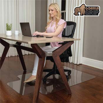 4. Gorilla Grip Premium Polycarbonate Chair Mat for Hard Floor Surfaces