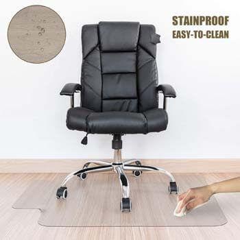 8. Kuyal Clear Chair Mat, Hard Floor Use, 48