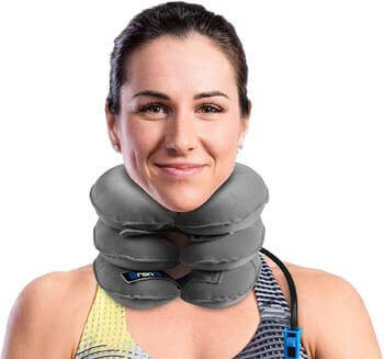 7. Branfit Cervical Neck Traction Device and Collar Brace