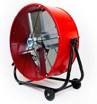 3. Maxx Air | Industrial Grade Air Circulator for Garage, Shop, Patio, Barn Use | 24-Inch High-Velocity Drum Fan, Two-Speed