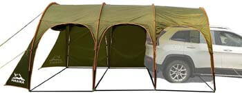 8. Hasika Waterproof Portable 8-10 Person Family Camping Tunnel Tent Top Canopy Cover