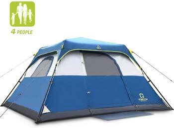 6. QOMOTOP Camping Tents, 4/6/8/10 Person Instant Set-Up