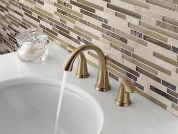 2. Delta Faucet Lahara 2-Handle Widespread Bathroom Faucet