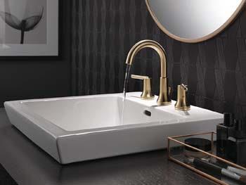 6. Delta Faucet Trinsic 2-Handle Widespread Bathroom Faucet