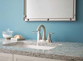 1. Delta Faucet Lahara 2-Handle Centerset Bathroom Faucet