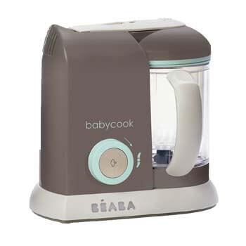6. BEABA Babycook 4 in 1 Steam Cooker and Blender, 4.5 cups, Dishwasher Safe, Latte Mint