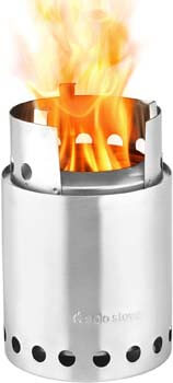 2. Solo Stove Titan - 2-4 Person Lightweight Wood Burning Stove