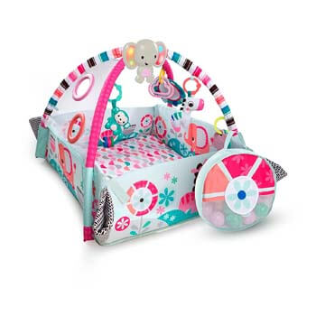 4. Bright Starts 5-in-1 Your Way Ball Play Pink Activity Gym