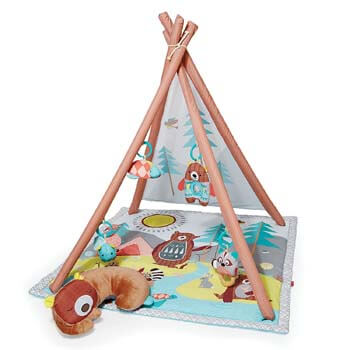 10. Skip Hop Baby Infant and Toddler Camping Cubs Activity Gym and Playmat, Multi