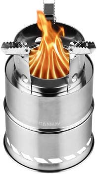9. CANWAY Camping Stove, Wood Stove/Backpacking Stove