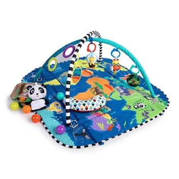 3. Baby Einstein 5-in-1 Journey of Discovery Activity Gym and Play Mat, Ages Newborn +