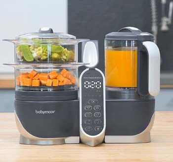 4. Babymoov Duo Meal Station Food Maker   6 in 1 Food Processor with Steam Cooker