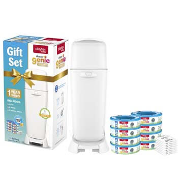 3. Playtex Diaper Genie Baby Registry Gift Set, Includes 1 Diaper Genie Complete Diaper Pail