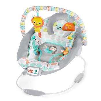 2. Bright Starts Whimsical Wild Cradling Bouncer Seat with Soothing Vibration & Melodies